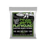 Slinky Flatwound 5-String Bass 45-130